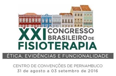 XXI Congresso Brasileiro de Fisioterapia | Recife/PE